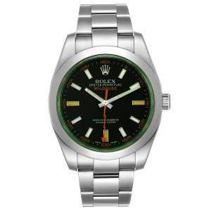 Rolex Blue/Green Stainless Steel Milgauss Automatic 116400GV Men's Wristwatch 40 MM