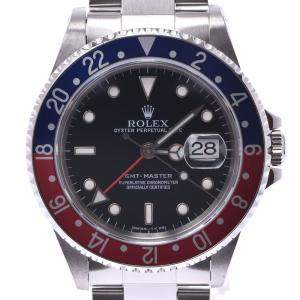 Rolex Black Stainless Steel GMT Master Pepsi 16700 Automatic Men's Wristwatch 40 MM