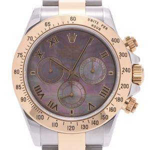 Rolex Black MOP 18K Yellow Gold And Stainless Steel Daytona 116523NR Men's Wristwatch 40 MM