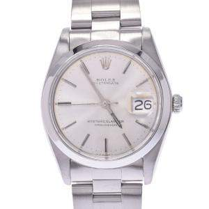 Rolex Silver Stainless Steel Oyster Date Precision 6694 Men's Wristwatch 34 MM