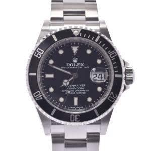 """ساعة يد رجالية رولكس """"صبمارينر 16610 أوتوماتيكية"""" ستانلس ستيل سوداء 40 مم"""