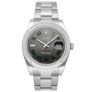 Rolex Gray Stainless Steel Datejust 126300 Automatic Men's Wristwatch 41 MM