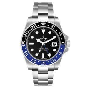 Rolex Black Stainless Steel GMT Master II Batman 116710 Men's Wristwatch 40 MM