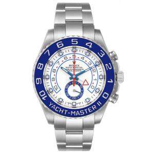 Rolex White Cerachrom And Stainless Steel Yachtmaster II 116680 Men's Wristwatch 44 MM
