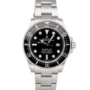 Rolex Black Stainless Steel Seadweller 4000 116600 Men's Wristwatch 40 MM