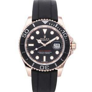 Rolex Black 18K Rose Gold Yachtmaster 116655 Men's Wristwatch 40 MM