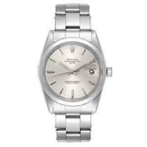 Rolex Silver Stainless Steel Date Vintage 1500 Men's Wristwatch  34 MM