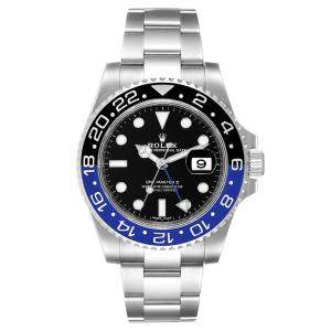 Rolex Black Ceramic And Stainless Steel GMT Master II Batman 116710 Men's Wristwatch 40 MM