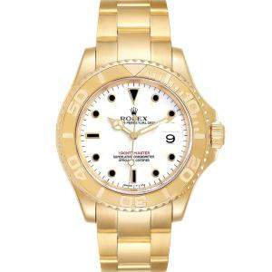 Rolex MOP 18K Yellow Gold Diamond Sapphire Yachtmaster 16628 Men's Wristwatch 40MM