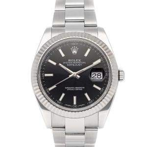 Rolex Black Stainless Steel Datejust 126334 Men's Wristwatch 41 MM