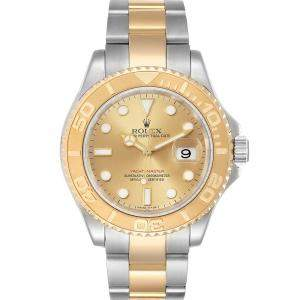 Rolex Champagne 18K Yellow Gold And Stainless Steel Yachtmaster 16623 Men's Wristwatch 40 MM