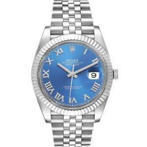 Rolex Blue 18K White Gold Datejust Automatic 126334 Men's Wristwatch 41 MM