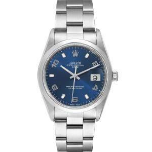 """ساعة يد رجالية رولكس """"دايت 15200"""" ستانلس ستيل زرقاء 34 مم"""