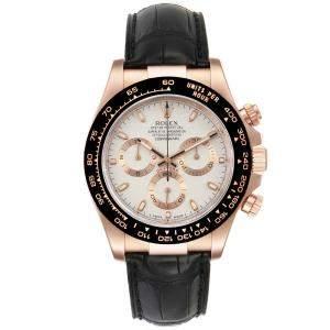 """ساعة يد رجالية رولكس """"كوزموغراف دايتونا 116515"""" ذهب وردي عيار 18 فضية 40 مم"""