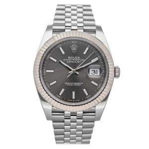 Rolex Gray Stainless Steel Datejust 126334 Men's Wristwatch 41 MM