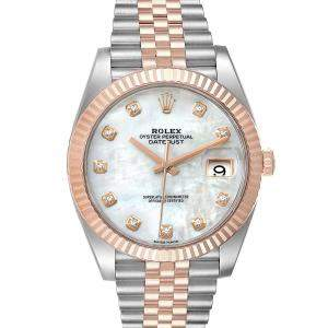 Rolex MOP Diamonds 18K Rose Gold And Stainless Steel Datejust II 126331 Men's Wristwatch 41 MM