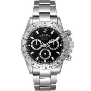 """ساعة يد رجالية رولكس """"دايتونا كرونوغراف 116520"""" ستانلس ستيل سوداء 40 مم"""