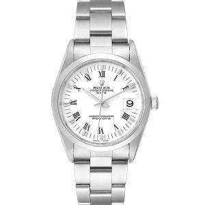 Rolex White Stainless Steel Date 15200 Men's Wristwatch 34 MM