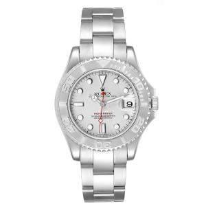 Rolex Platinum Stainless Steel Yachtmaster 168622 Men's Wristwatch 35 MM