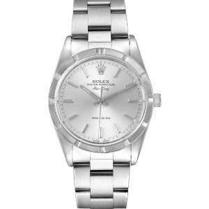 Rolex Silver Stainless Steel Air King 14010 Men's Wristwatch 34 MM