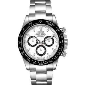 Rolex White Ceramic And Stainless Steel Daytona 116500 Men's Wristwatch 40 MM