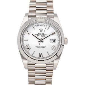 Rolex White 18K White Gold Day-Date 228239 Men's Wristwatch 40 MM