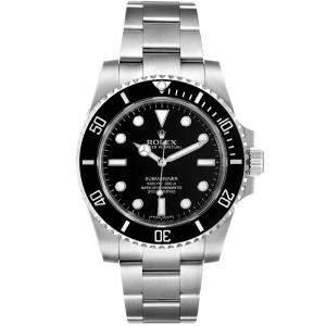 Rolex Black Stainless Steel Submariner Ceramic 114060 Men's Wristwatch 40MM
