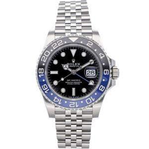 "Rolex Black Stainless Steel GMT-Master II ""Batman"" 126710BLNR Men's Wristwatch 40 MM"