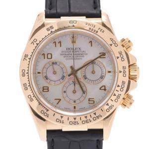 Rolex MOP 18K Yellow Gold Daytona 16518NA Automatic Men's Wristwatch 38 MM