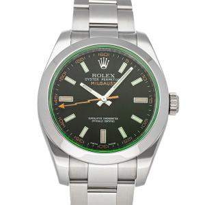 Rolex Green Stainless Steel Milgauss 116400GV Men's Wristwatch 40 MM