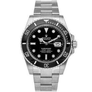 Rolex Black Stainless Steel Submariner Date 126610LN Men's Wristwatch 41 MM