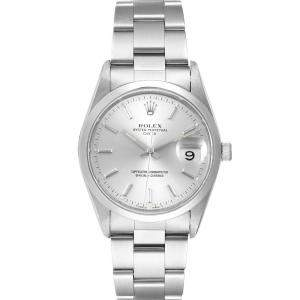 Rolex Silver Stainless Steel Date Automatic 15200 Men's Wristwatch 34 MM