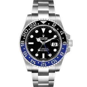 ساعة يد رجالية رولكس جي إم تي ماستر II باتمان 116710 ستانلس ستيل سوداء 40 مم