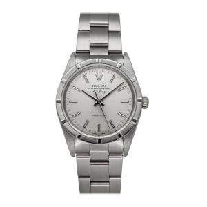 Rolex Silver Stainless Steel Air-King 14010 Men's Wristwatch 34 MM