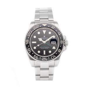 Rolex Black Stainless Steel GMT-Master II 116710LN Men's Wristwatch 40 MM