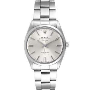 Rolex Silver Stainless Steel Air King 5500 Men's Wristwatch 36 MM