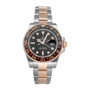 "Rolex Black 18K Rose Gold And Stainless Steel GMT-Master II ""Rootbeer"" 126711CHNR Men's Wristwatch 40 MM"