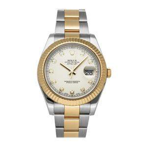Rolex Ivory Diamonds 18K Yellow Gold And Stainless Steel Datejust II Automatic Men's Wristwatch 36 MM