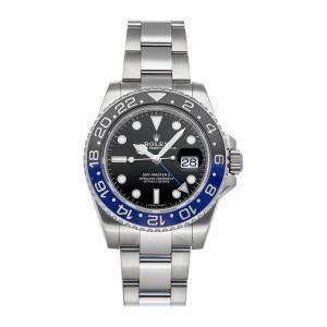 "Rolex Black Stainless Steel GMT-Master II ""Batman"" 116710BLNR Men's Wristwatch 40 MM"