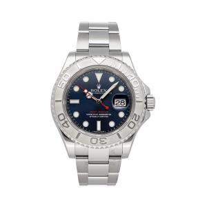 Rolex Blue Stainless Steel Yacht-Master 116622 Men's Wristwatch 40 MM