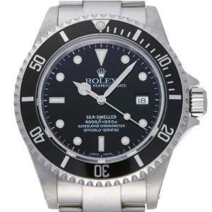 Rolex Black Stainless Steel Sea-Dweller 16600 Men's Wristwatch 40 MM
