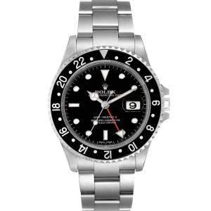 ساعة يد رجالية رولكس جي إم تي-ماستر آي آي أوتوماتيك 16710 ستانلس ستيل سوداء 40 مم