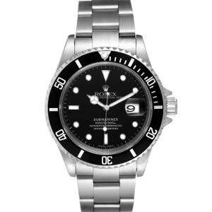 Rolex Black Stainless Steel Submariner 16610 Men's Wristwatch 40 MM