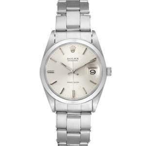 Rolex Silver Stainless Steel OysterDate Precision Vintage 6694 Men's Wristwatch 35 MM