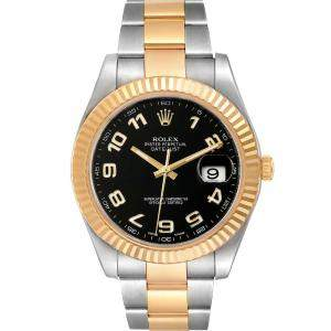 Rolex Black 18K Yellow Gold And Stainless Steel Datejust II 116333 Men's Wristwatch 41 MM