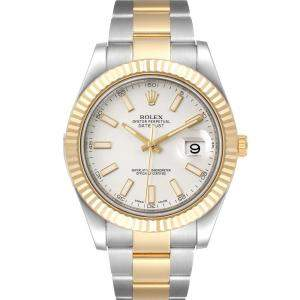 Rolex Silver 18K Yellow Gold And Stainless Steel Datejust II 116333 Men's Wristwatch 41 MM