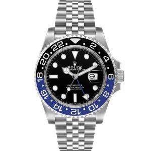 Rolex Black Stainless Steel GMT Master II Batman 126710 Men's Wristwatch 40 MM