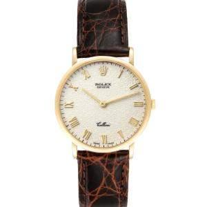Rolex Ivory 18K Yellow Gold Cellini 5112 Men's Wristwatch 32 MM