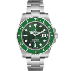 Rolex Green Stainless Steel Submariner Hulk 116610LV Men's Wristwatch 40 MM