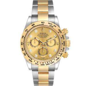 Rolex Champagne Diamonds 18K Yellow Gold And Stainless Steel Cosmograph Daytona 116503 Men's Wristwatch 40 MM